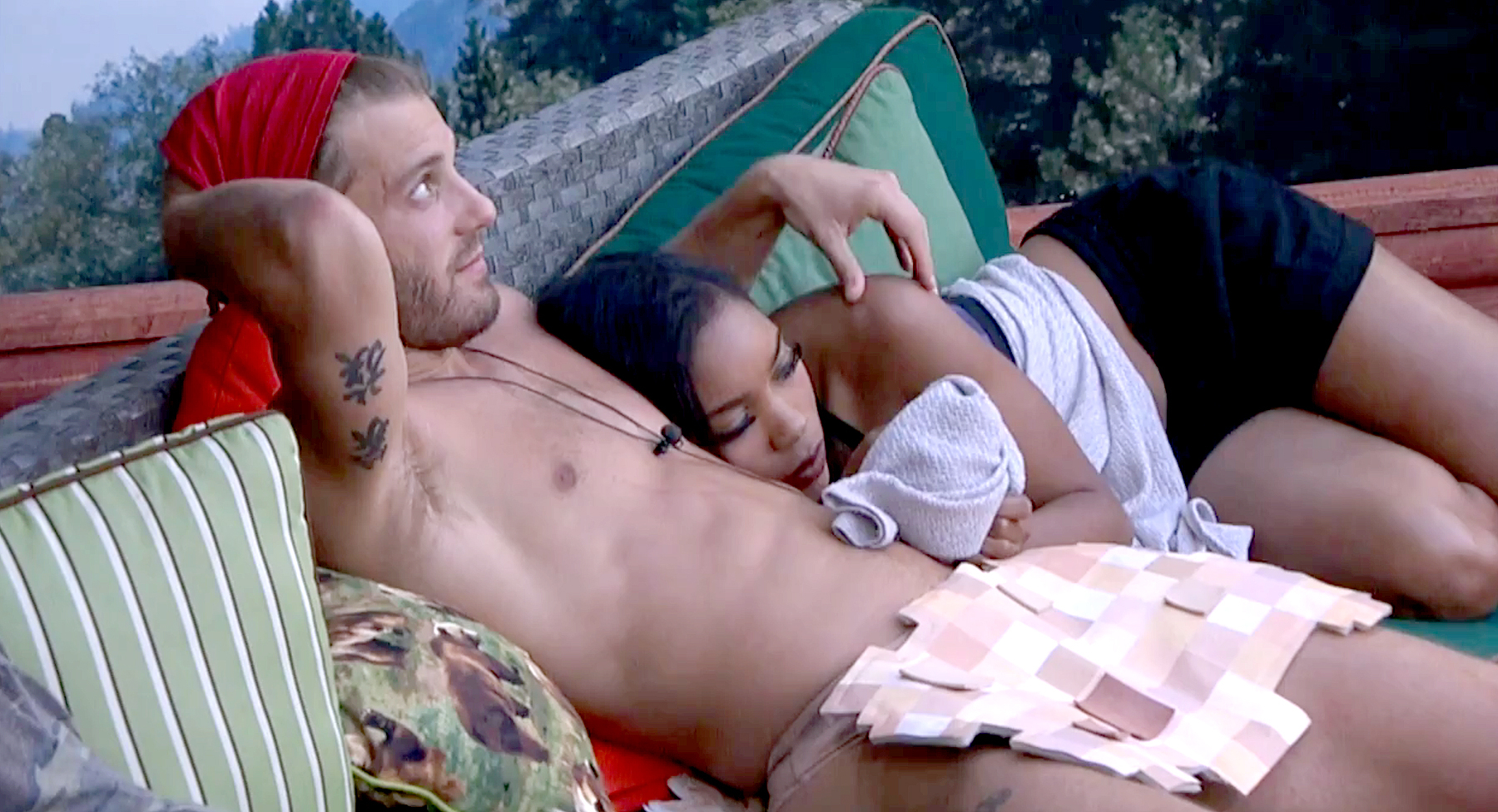 Paulie Calafiore and Zakiyah Everette on Big Brother.