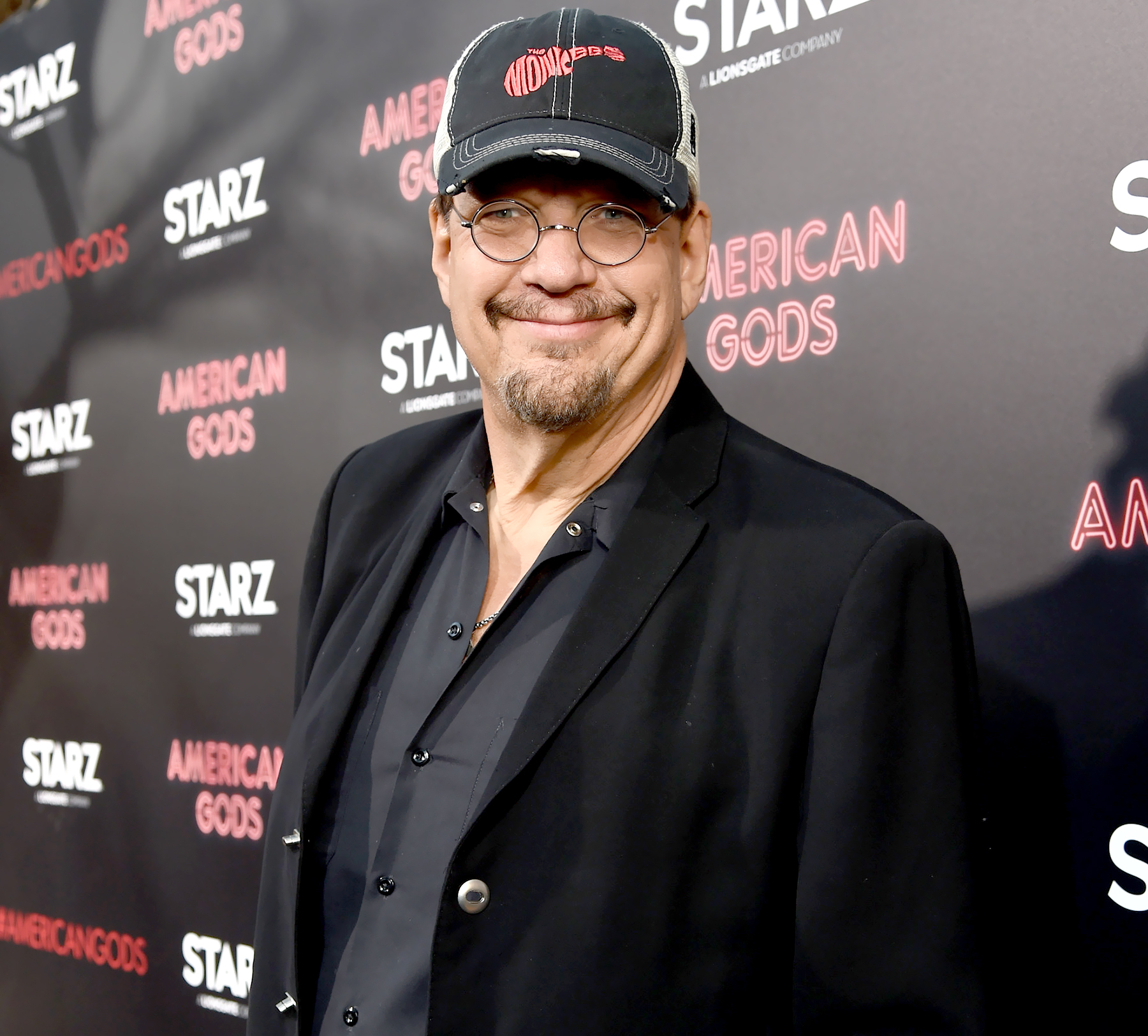 Penn Jillette attends the 'American Gods' premiere at ArcLight Hollywood in Los Angeles on April 20, 2017.