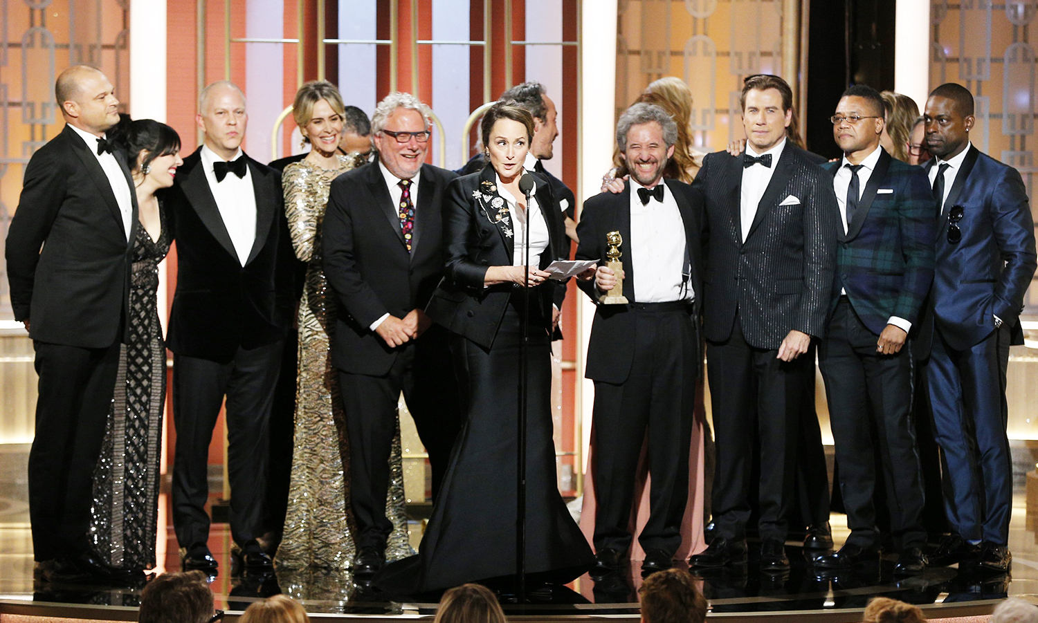 Nina Jacobson accepts the award for Best Television Limited Series or Motion Picture Made for TV for