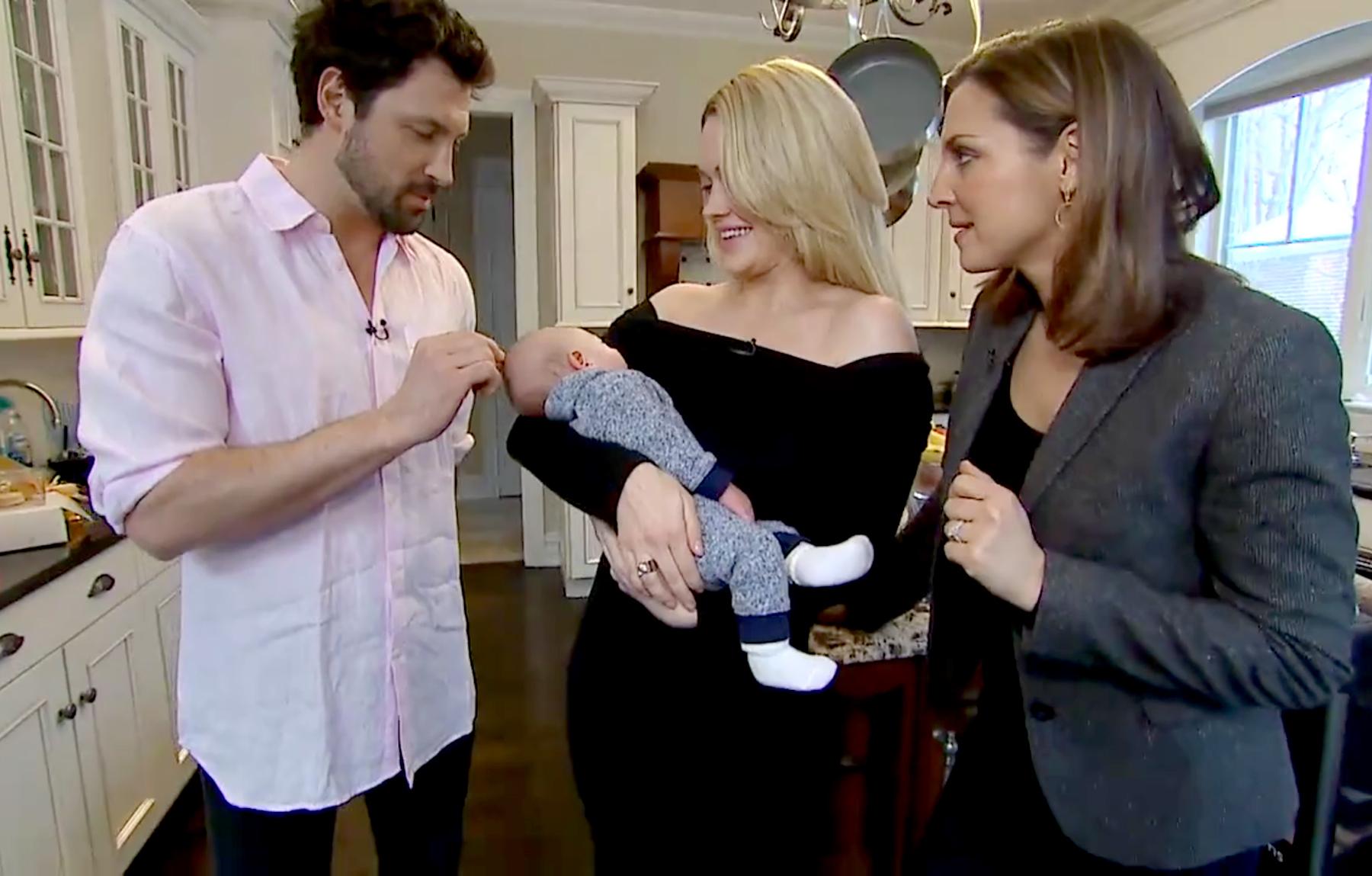 Maksim Chmerkovskiy and Peta Murgatroyd debut son Shai