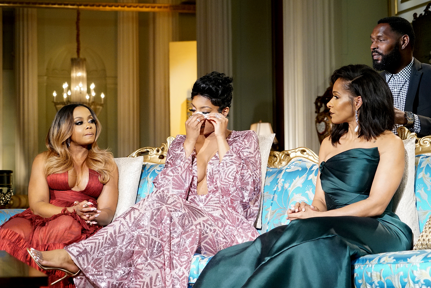 Phaedra Parks, Porsha Williams, and Sheree Whitfield on The Real Housewives of Atlanta Reunion.