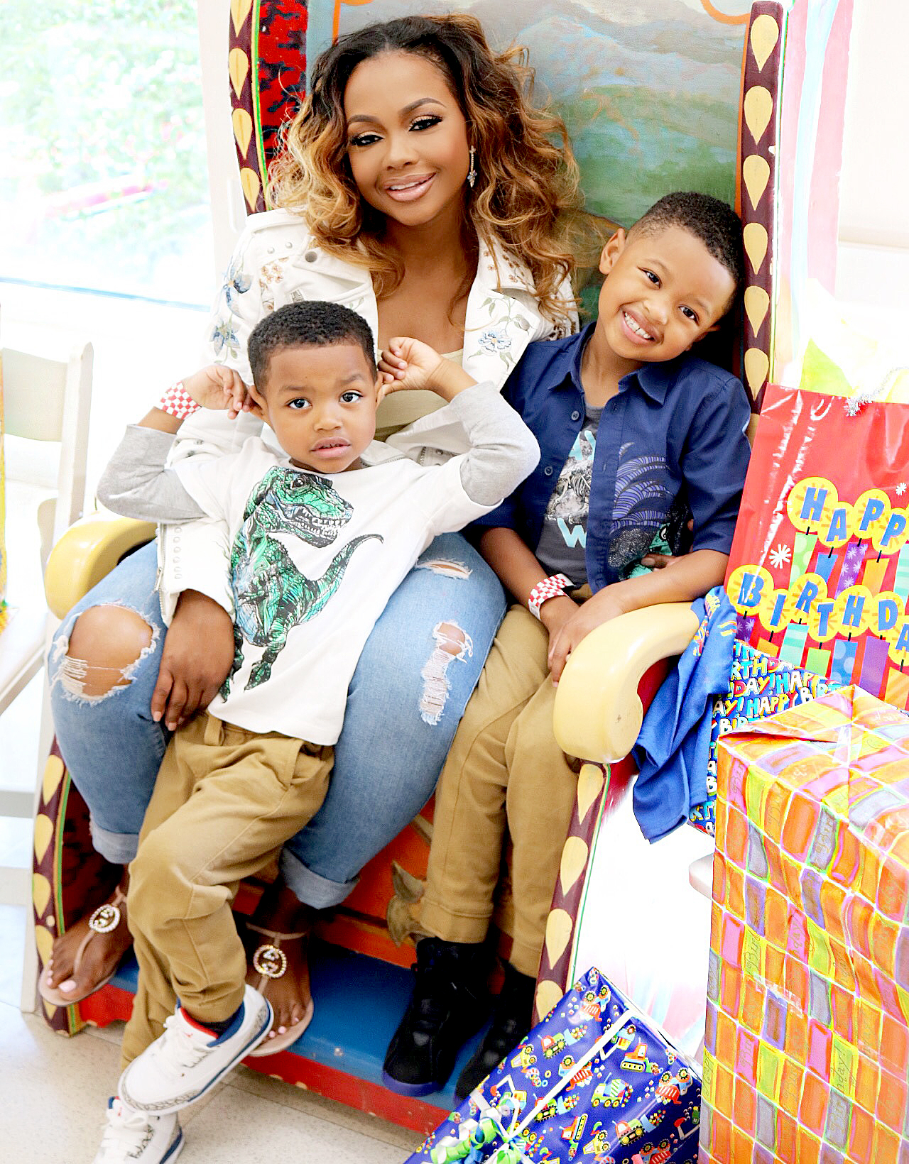 Phaedra Park and sons Dylan and Ayden
