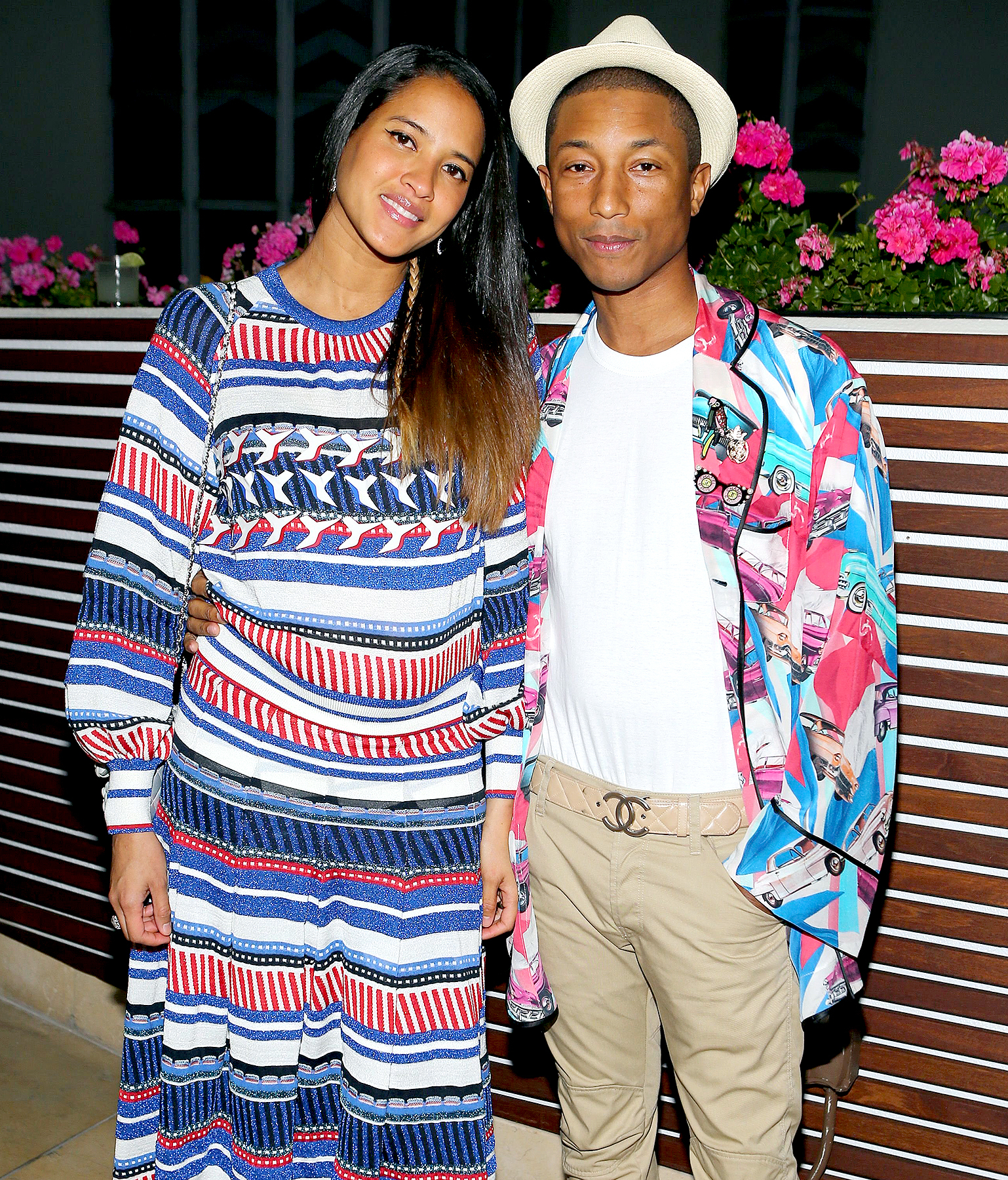 Helen Lasichanh and Pharrell Williams celebrates the launch of 'No.5 L'eau' on September 22, 2016.