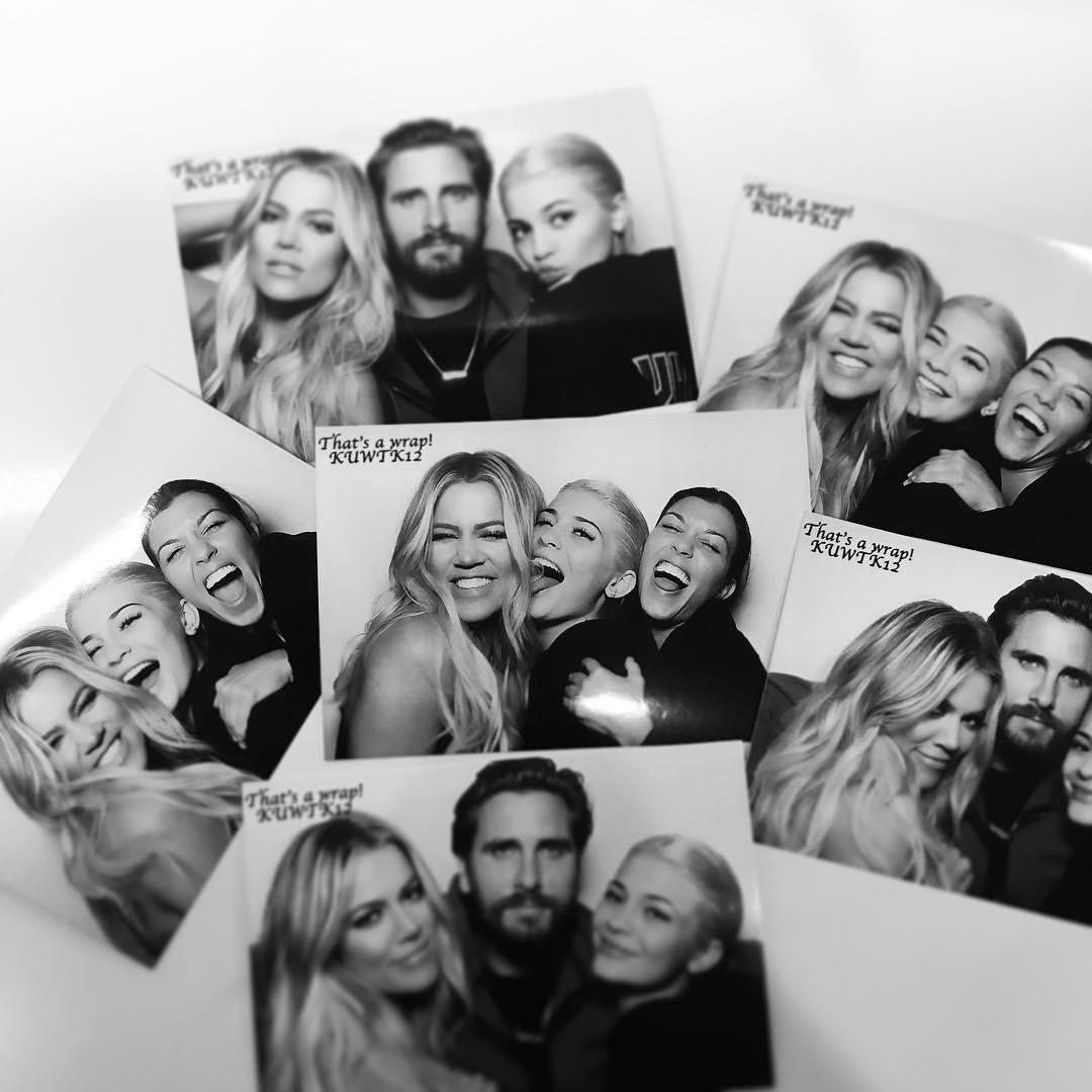 The Kardashian family celebrate.