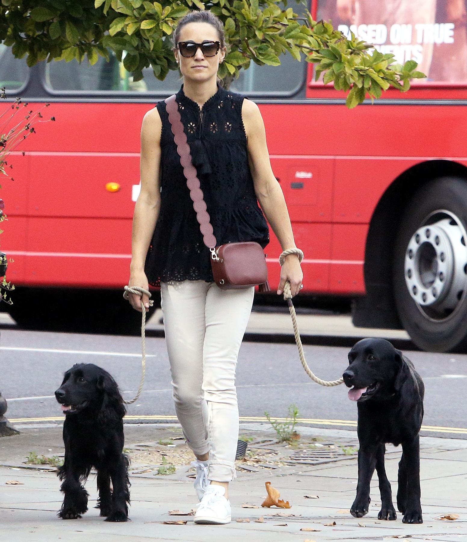 Pippa Middleton Kate Spade walking dogs