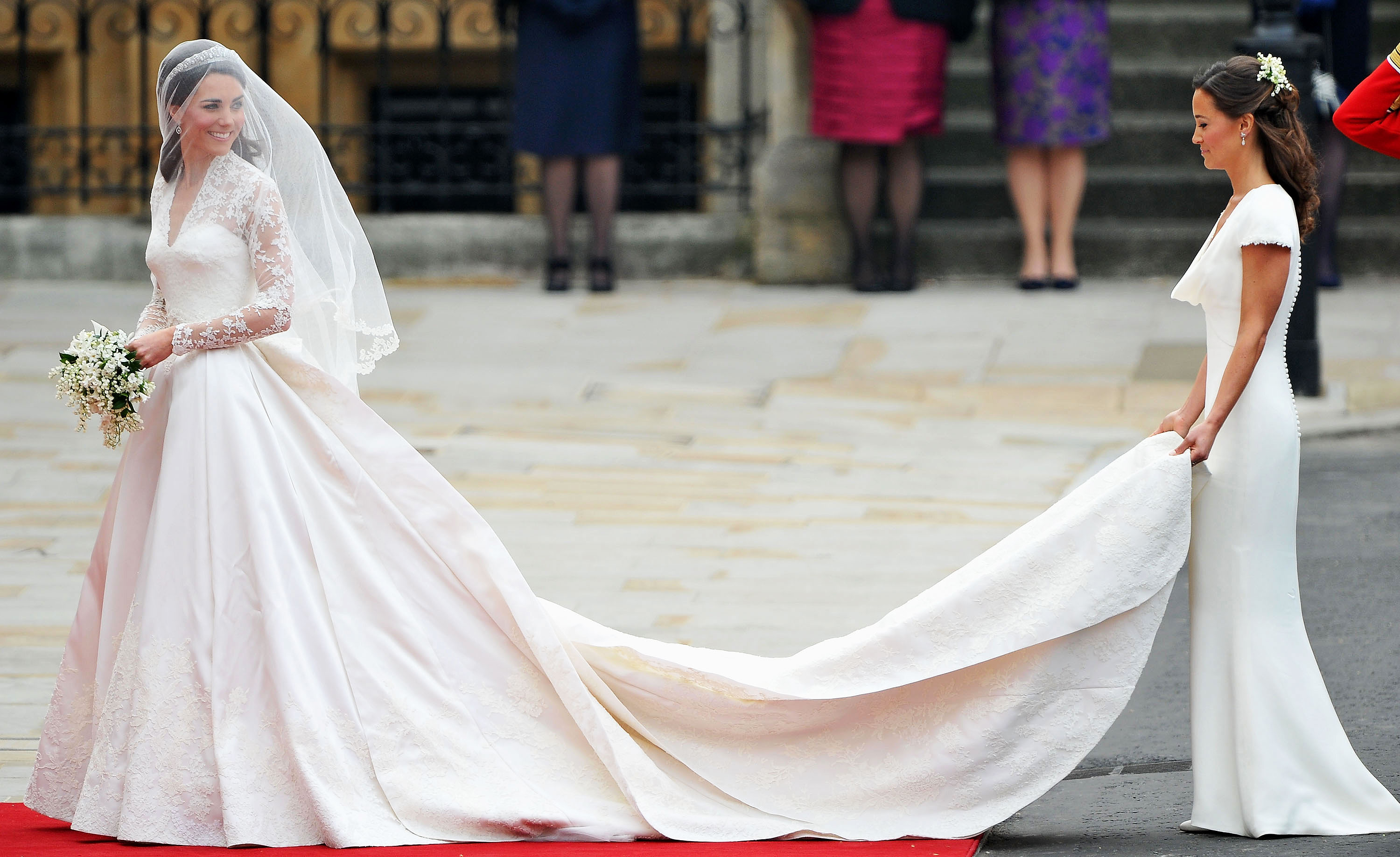 Pippa middletons infamous royal wedding bridesmaid dress look royal wedding dresses ever pippa middleton ombrellifo Gallery