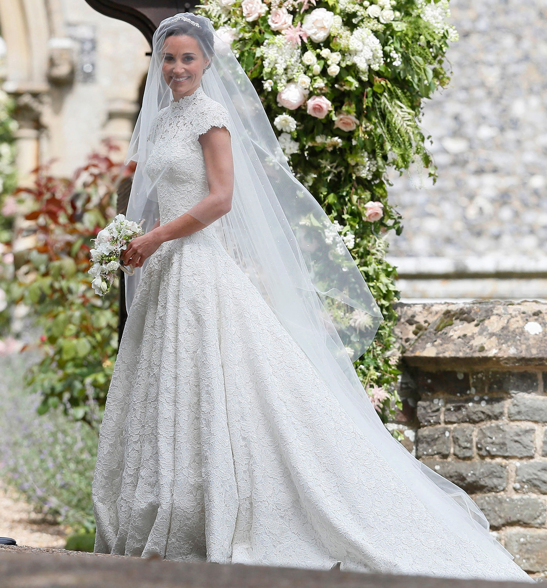 All the details on pippa middletons wedding dress pippa middleton at st marks church in englefield berkshire on may 20 2017 pa imagesinstarimages most amazing royal wedding dresses ever junglespirit Gallery