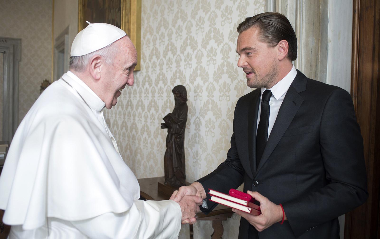 Pope Francis & Leonardo DiCaprio