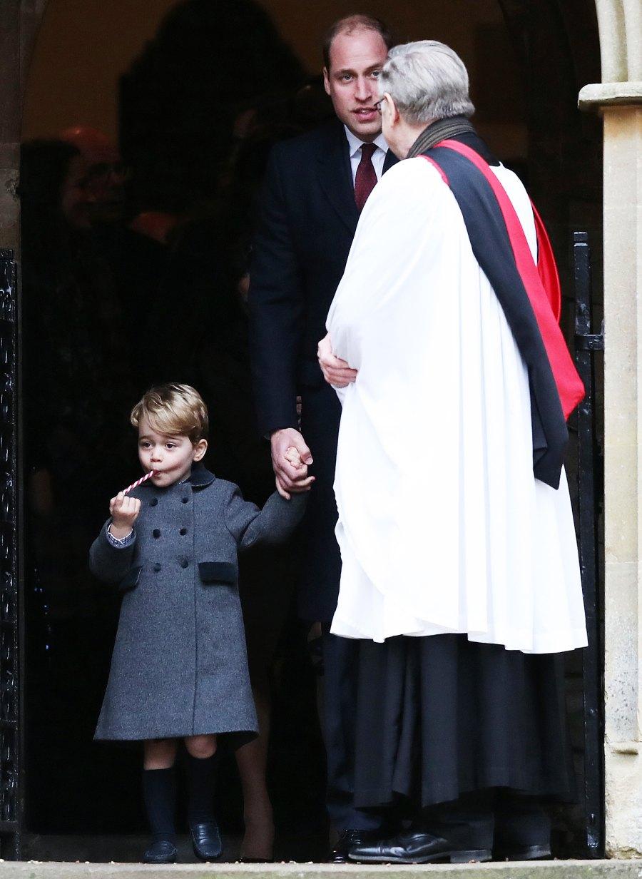 Prince George Prince William grumpy candy cane