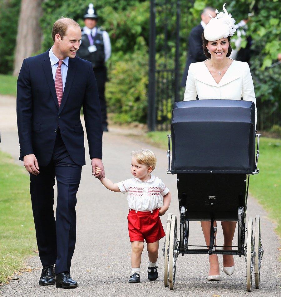 Prince George Prince William Kate Middleton grumpy Princess Charlotte christening