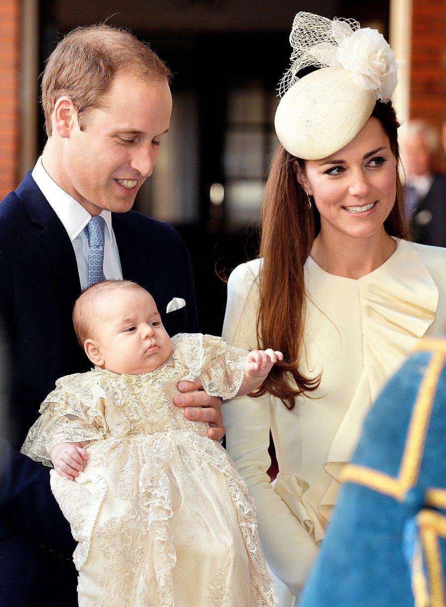Prince George Prince William Kate Middleton grumpy christening