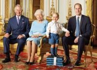 Prince Charles, Queen Elizabeth II, Prince George and Prince Charles