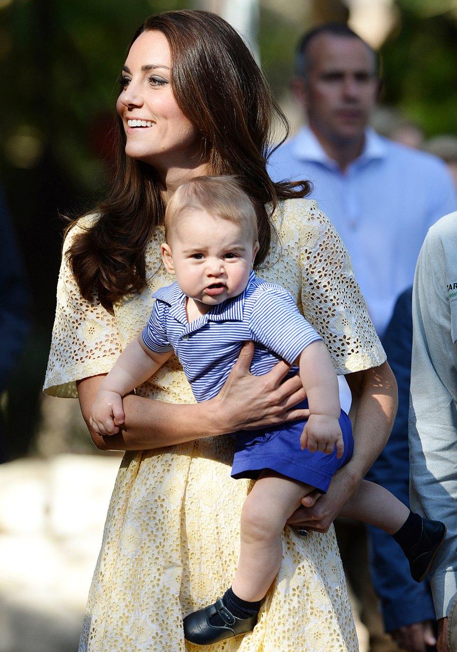 Prince George Kate Middleton grumpy