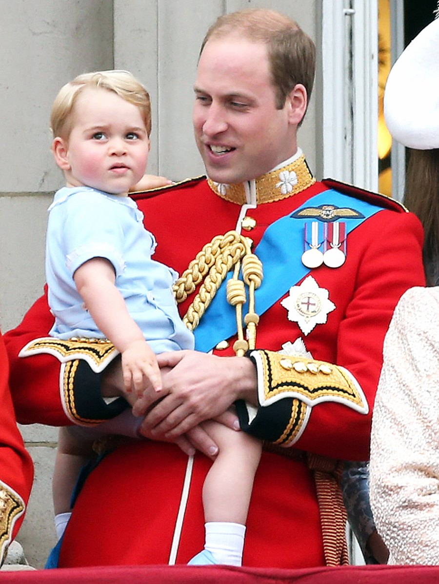 Prince George Prince William Trooping the Colour grumpy