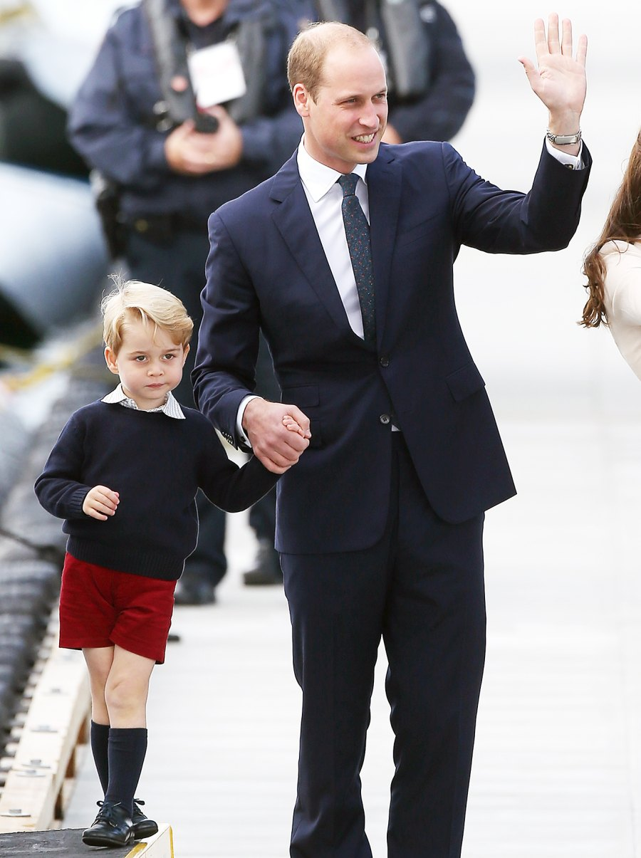 Prince George Prince William grumpy