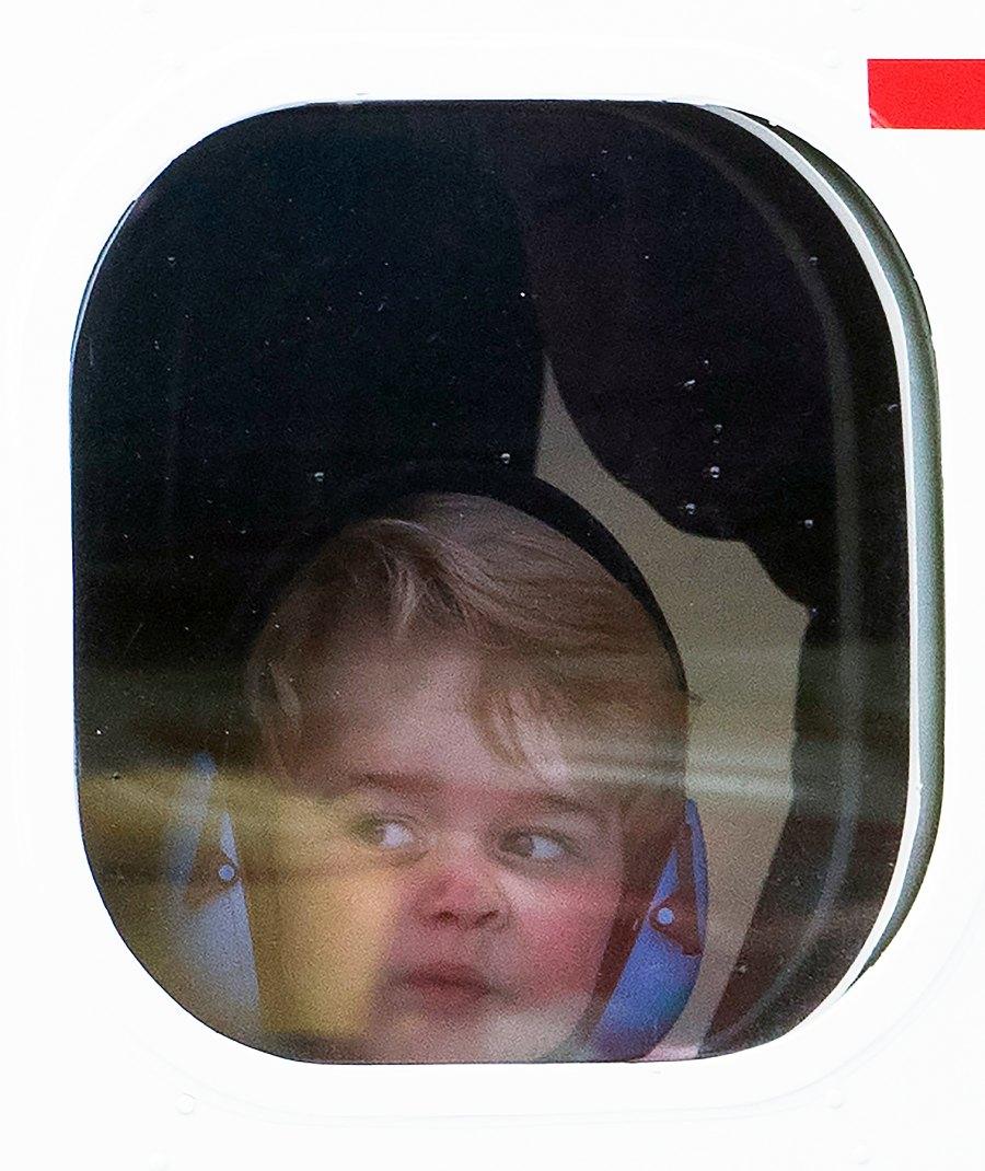 Prince George airplane grumpy