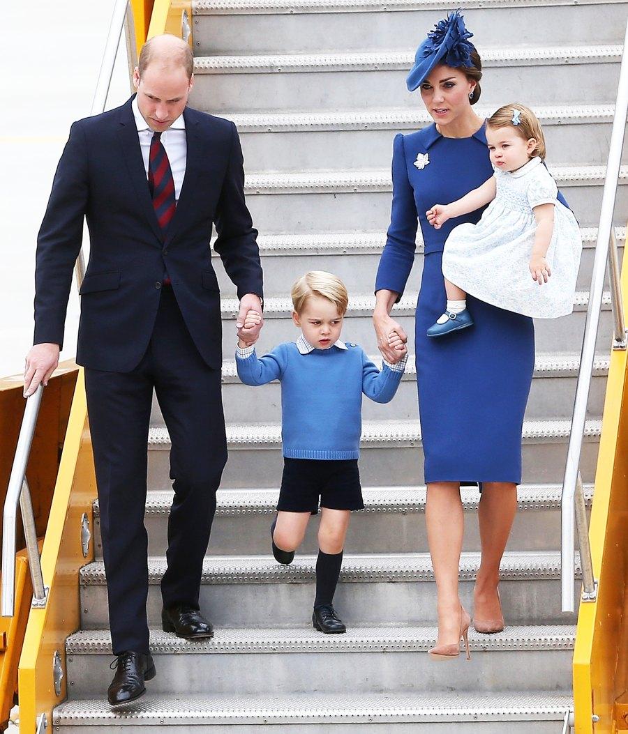 Prince George Prince William Kate Middleton Princess Charlotte grumpy
