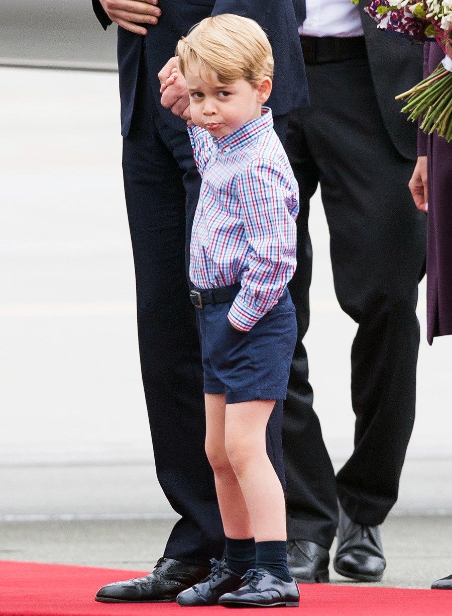 Prince George Warsaw Poland grumpy