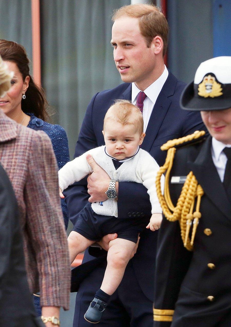 Prince George Prince William Kate Middleton grumpy