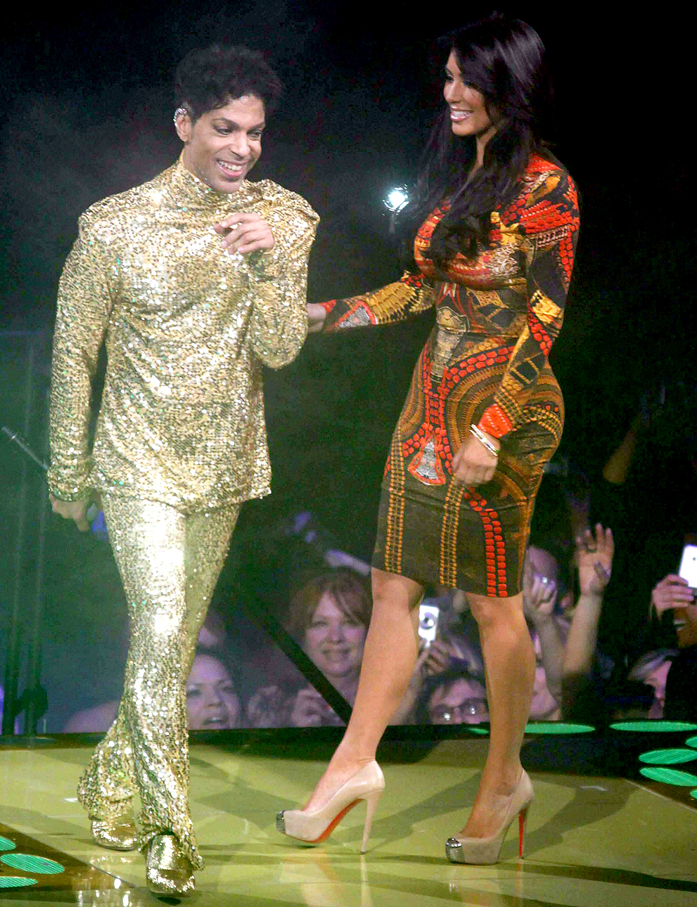 Prince and Kim Kardashian in 2011.