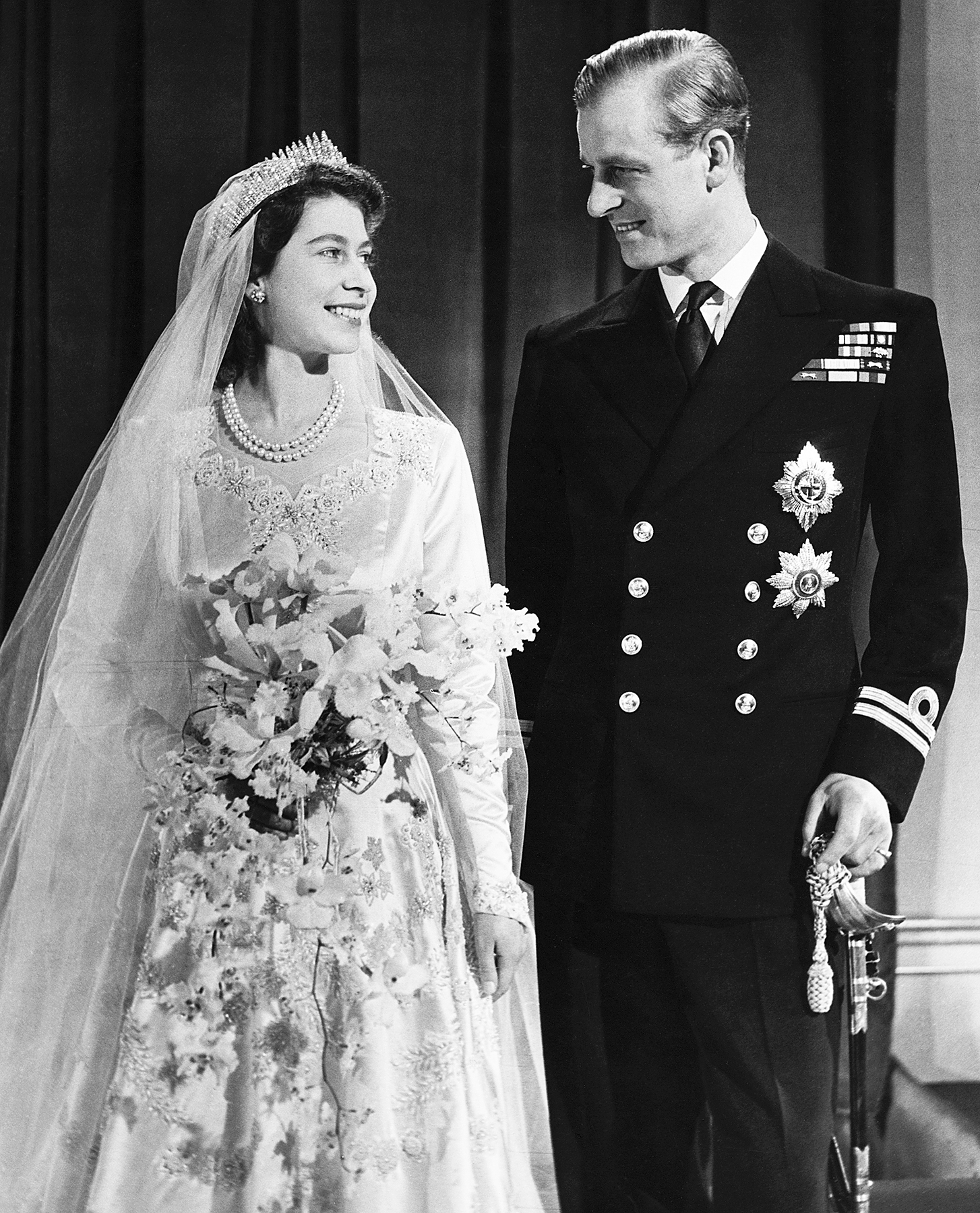 Queen Elizabeth Prince Philip wedding 1947