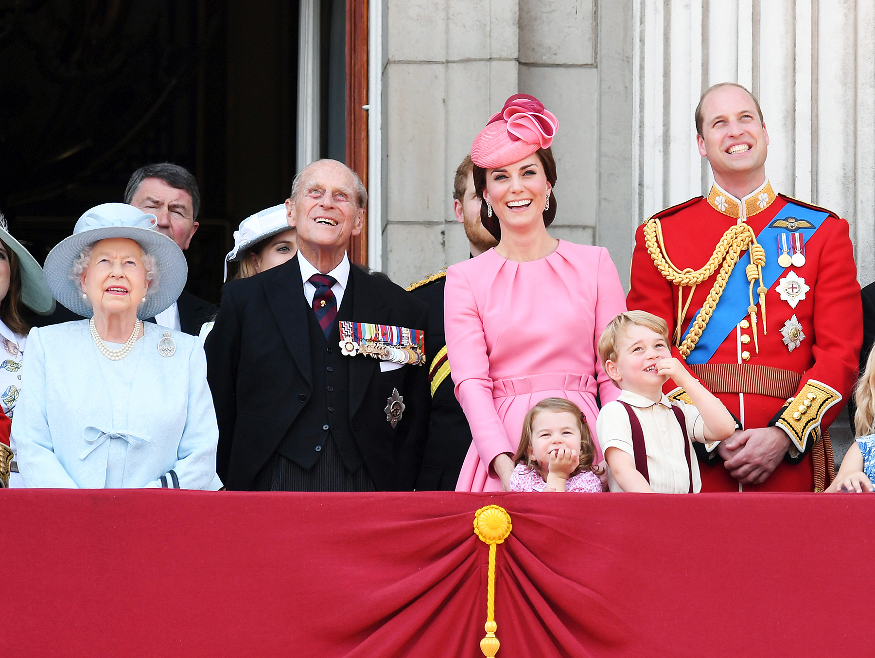 Queen Elizabeth II Prince Philip Kate Middleton Princess Charlotte Prince George Prince William
