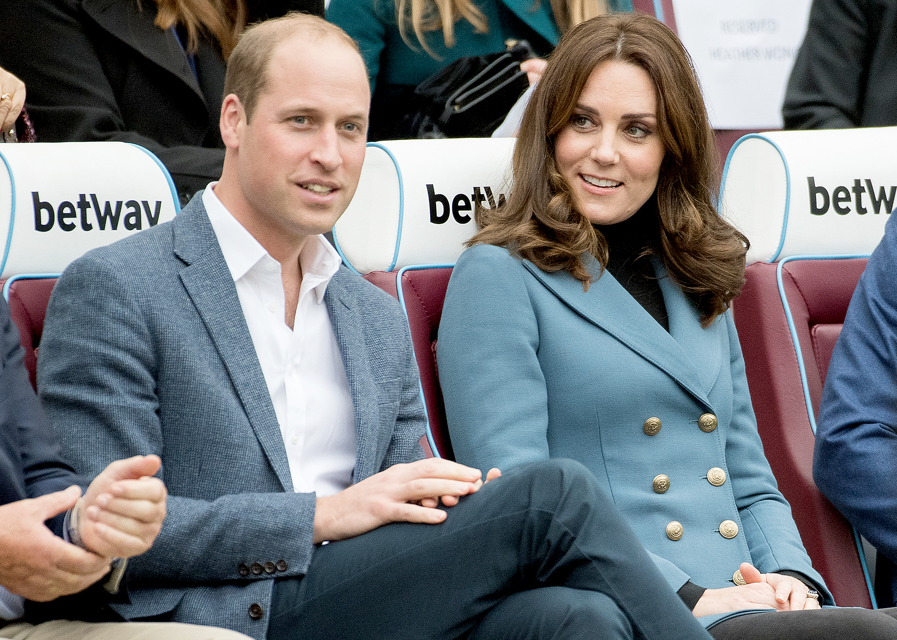 Catherine, Duchess of Cambridge and Prince William Duke of Cambridge attend the Coach Core graduation ceremony for more than 150 Coach Core apprentices at The London Stadium on October 18, 2017 in London, England.