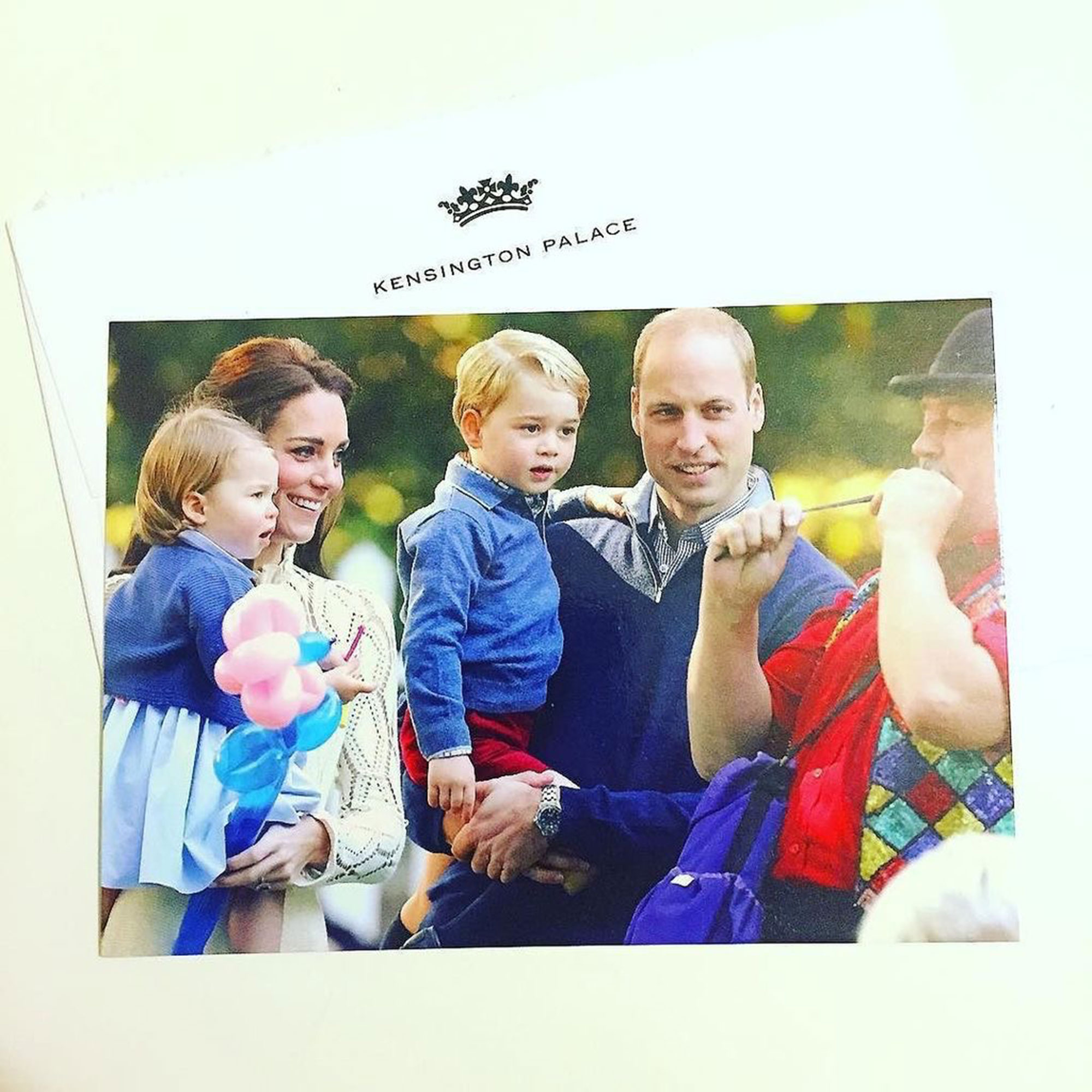 Prince William Duchess Kate 2016 Christmas card