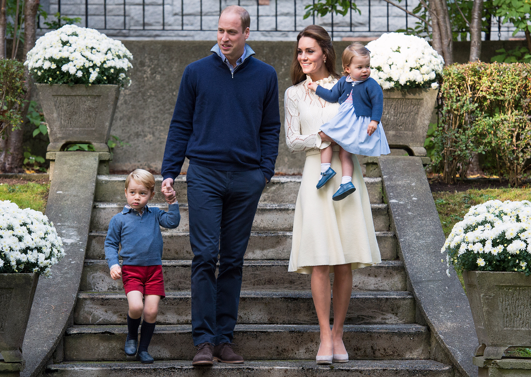 Prince George Prince William Kate Middleton Princess Charlotte