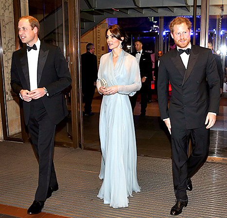 Prince William, Duke of Cambridge, Kate Middleton and Prince Harry - Spectra
