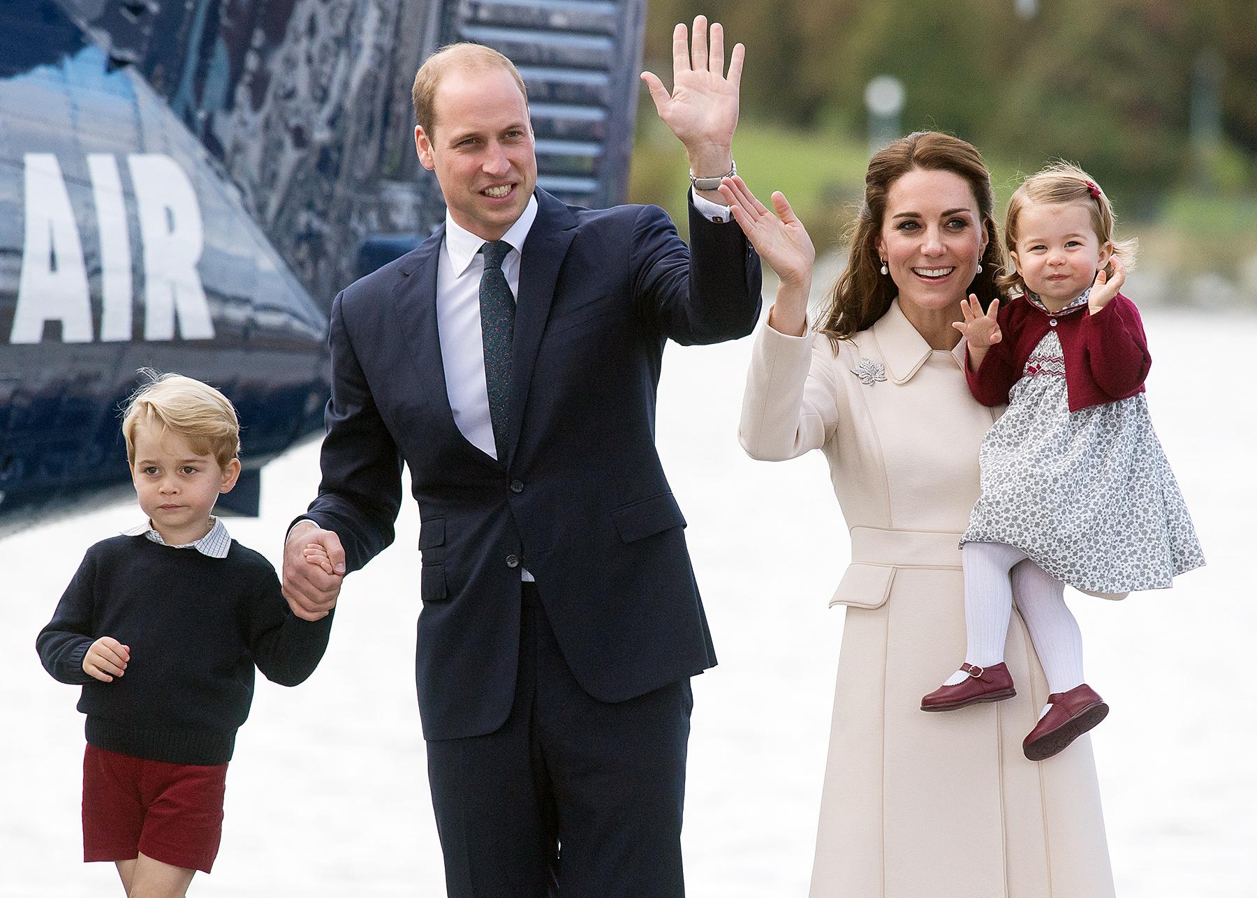 Prince George Prince William Kate Middleton Princess Charlotte