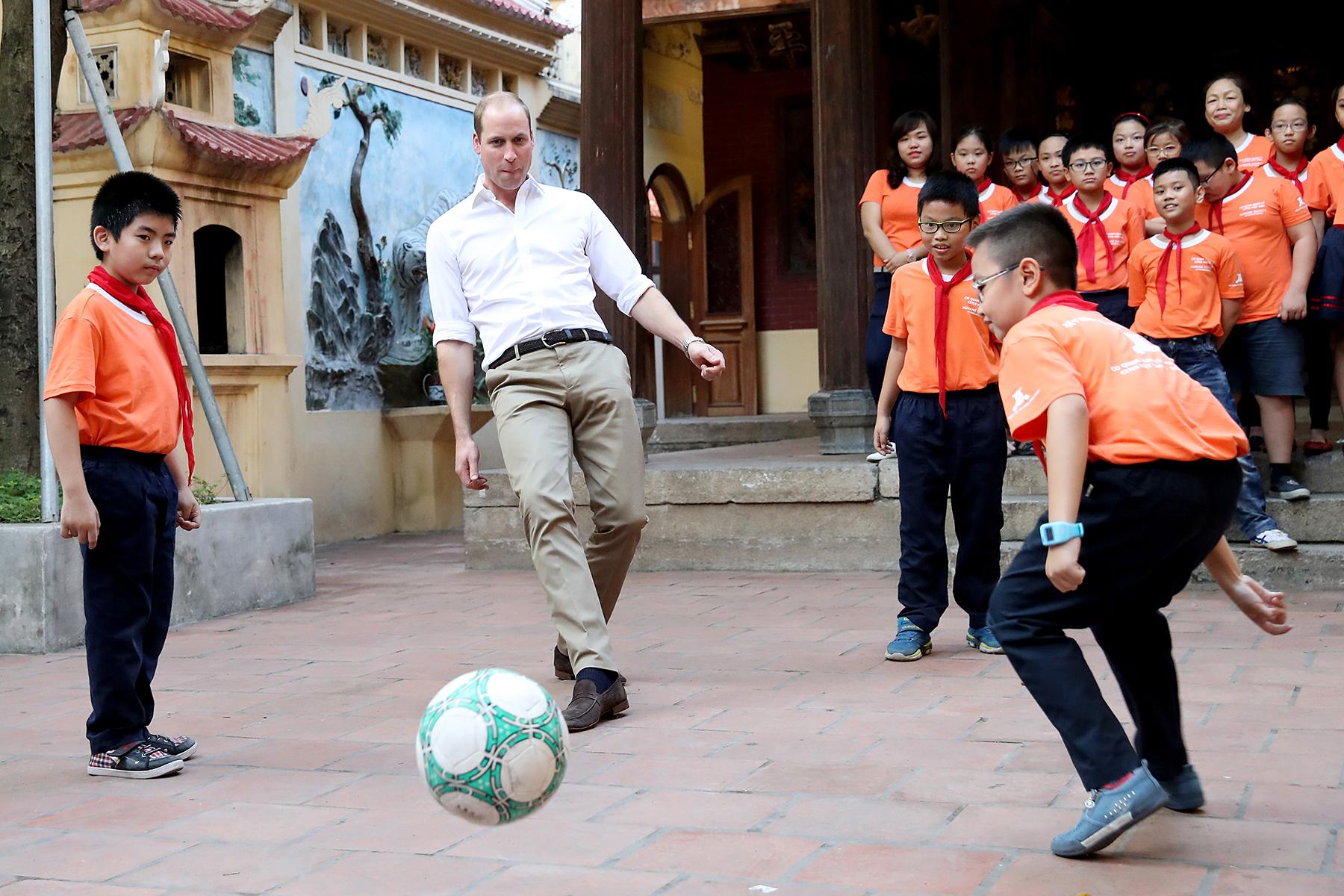Prince William Vietnam soccer