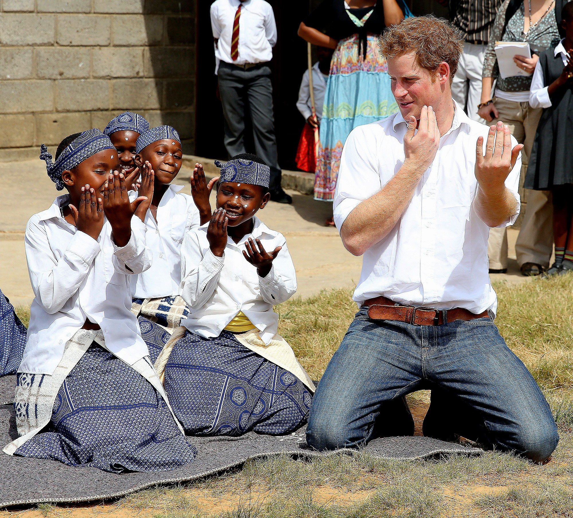 Prince Harry - Prince Harry (in Lesotho in February 2013) danced with deaf girls at the Kananelo Centre, a project supported by Sentebale.