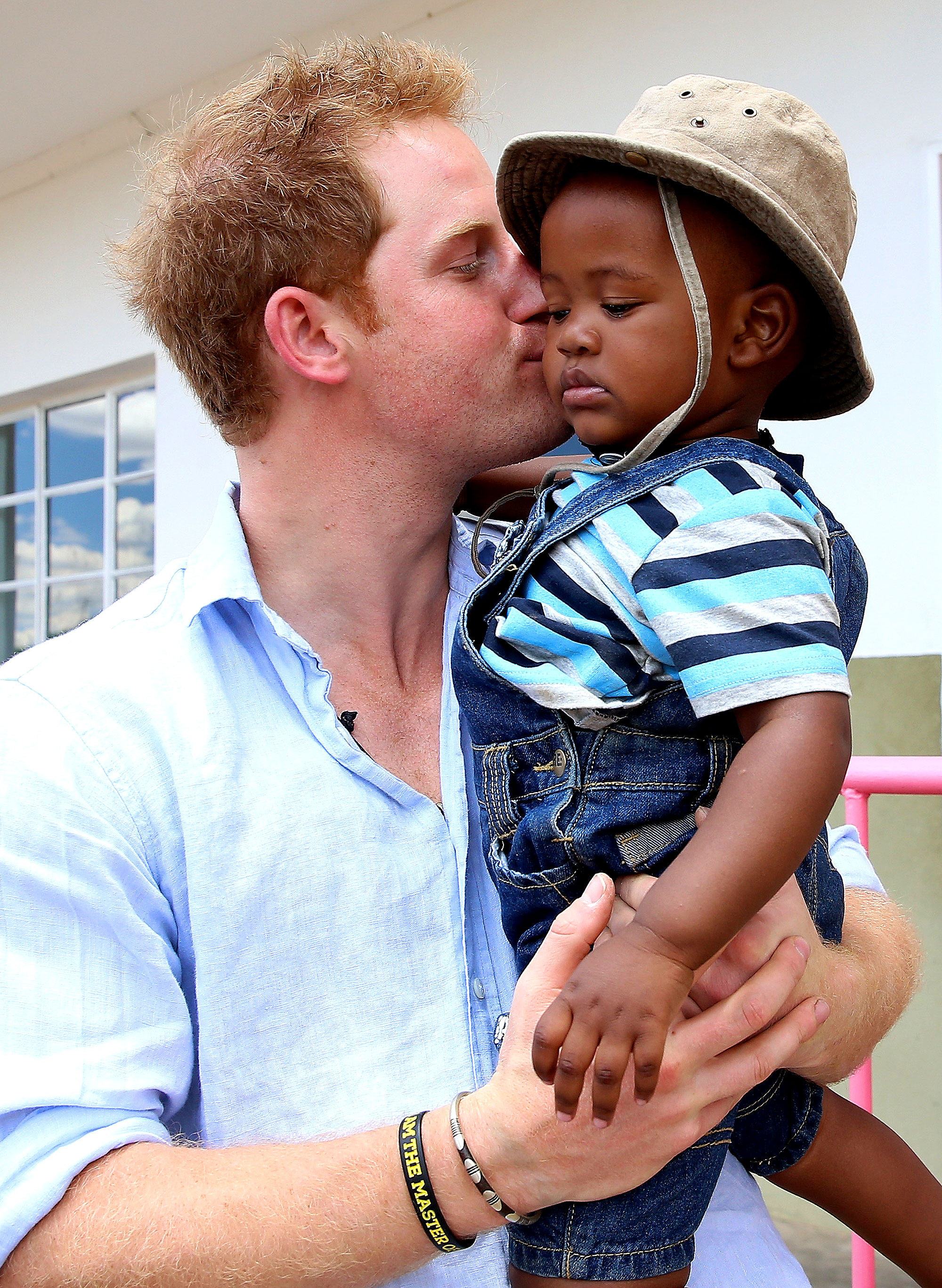 Prince Harry - The Brit stopped at the Thuso Centre for disabled children in the African country of Lesotho during the same trip.