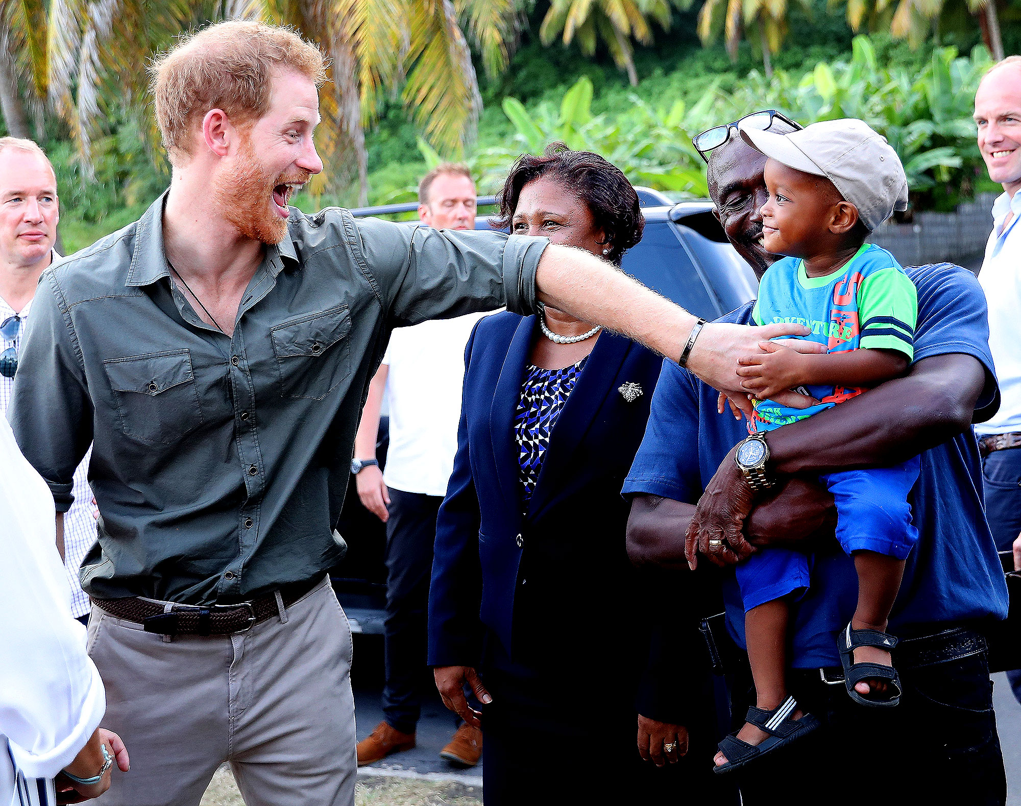 Prince Harry - During a November 2016 official visit to the Caribbean, Prince Harry hung out with a local boy named Jyasi Junior while the two experienced the Turtle Conservation Project.