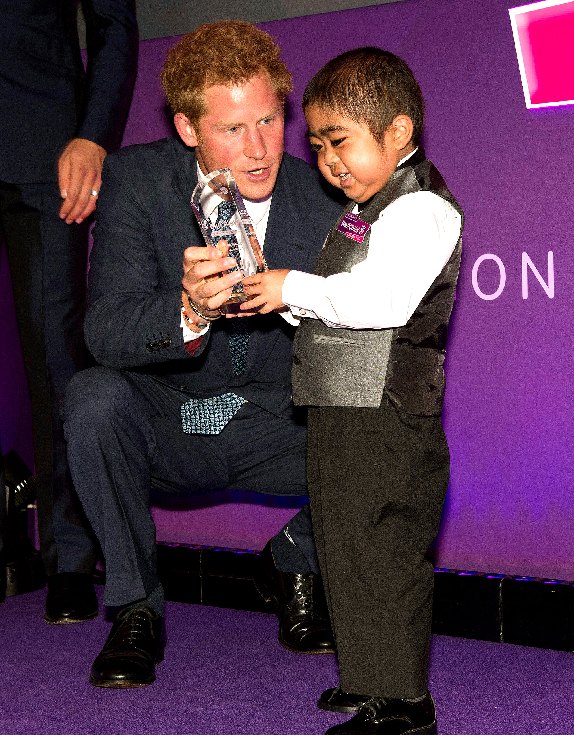 Prince Harry - Prince William's younger brother presented Jonathan He with an award at 2013's 8th Annual WellChild Awards in London. The youngster received the Most Inspirational Child honor for boys ages 3 to 6 due to his bravery in battling a life-threatening illness.