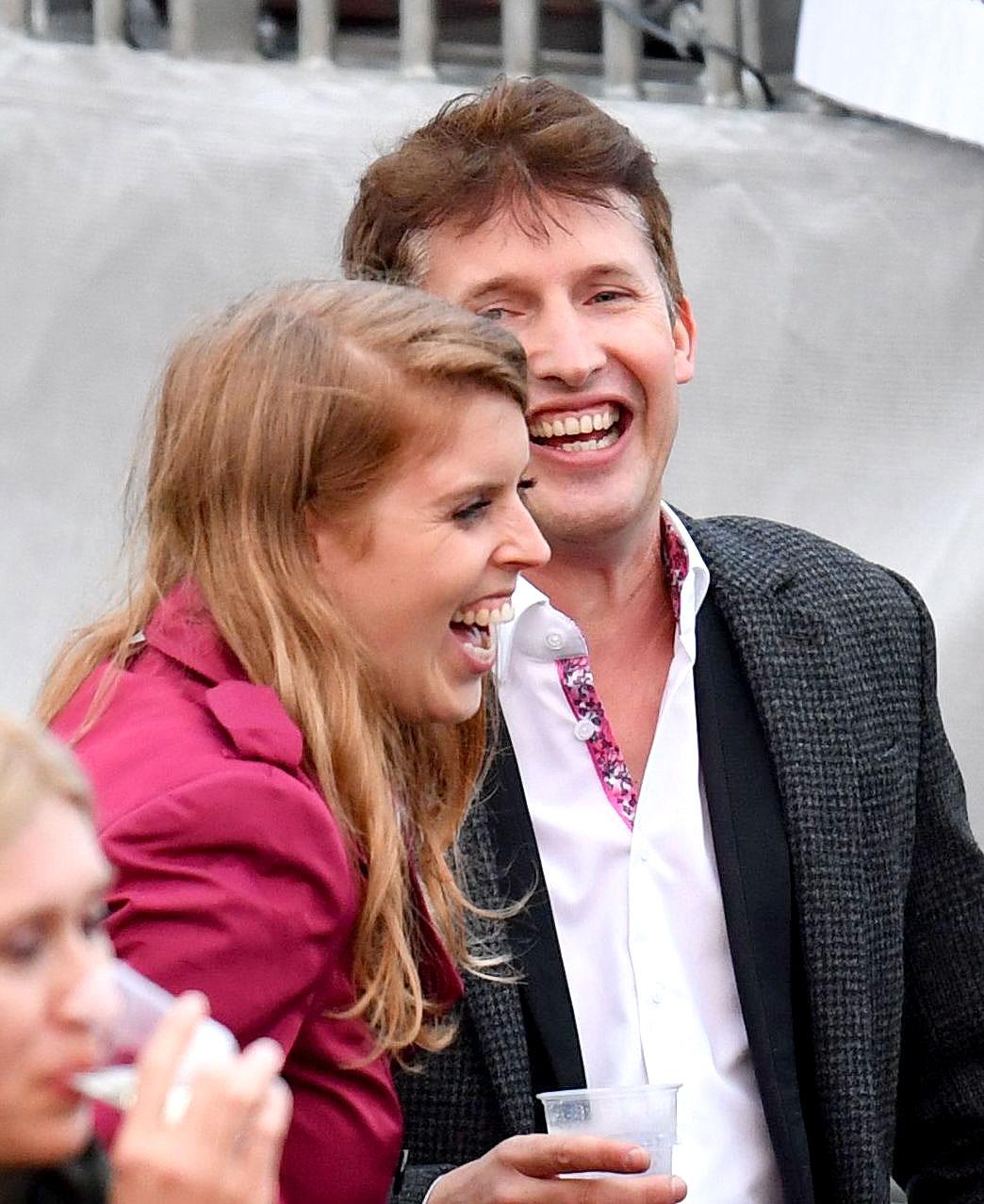 Princess Beatrice and James Blunt
