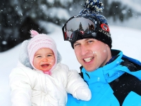 Prince William, Duke of Cambridge poses with his daughter Princess Charlotte