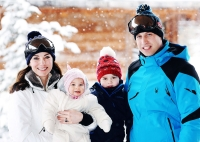 Catherine, Duchess of Cambridge and Prince William, Duke of Cambridge, with their children, Princess Charlotte and Prince George