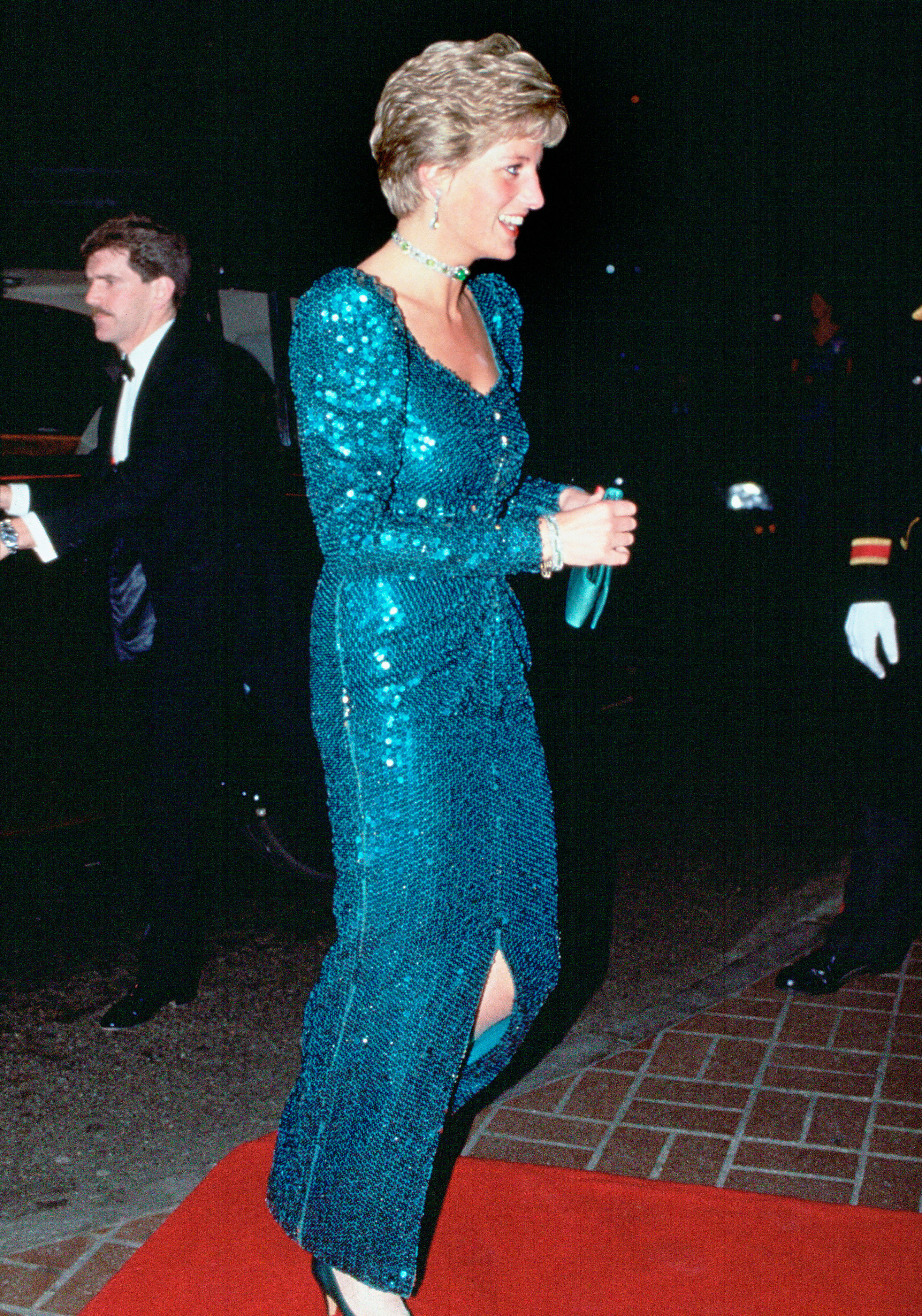 Princess Diana\'s Blue Sequined Dress Up for Auction