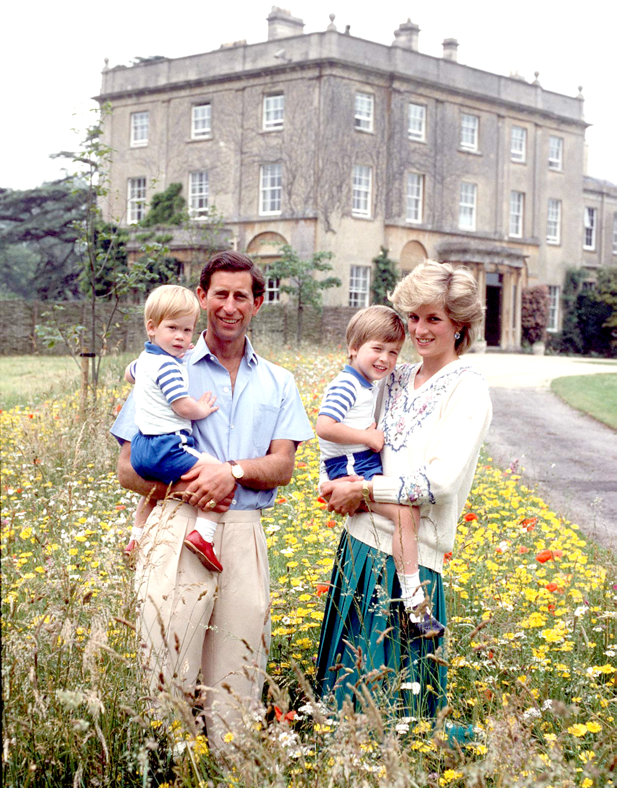 The Prince And Princess Of Wales With Prince William & Prince Harry