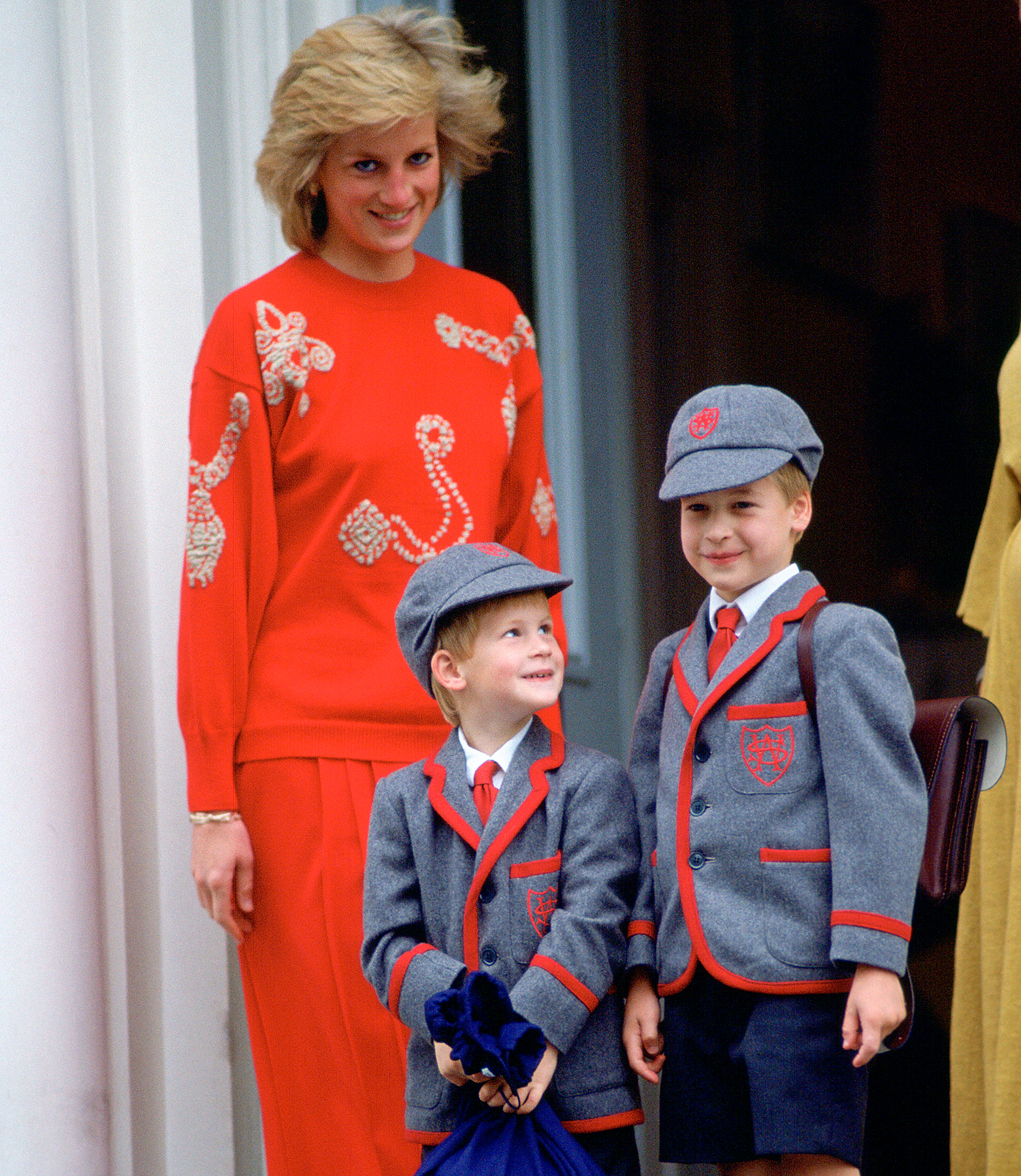 Princess Diana, Prince Harry and Prince William in 1989.