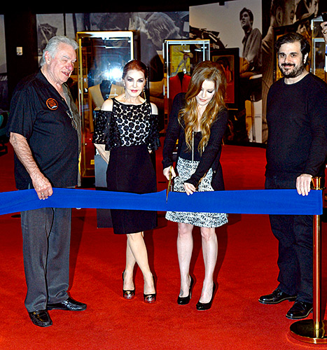 Priscilla Presley and Lisa Marie Presley - ribbon cutting