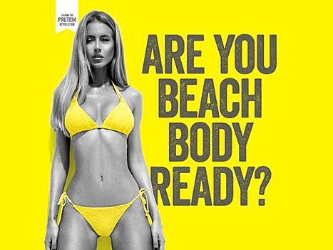 Protein World - Beach Body Ad