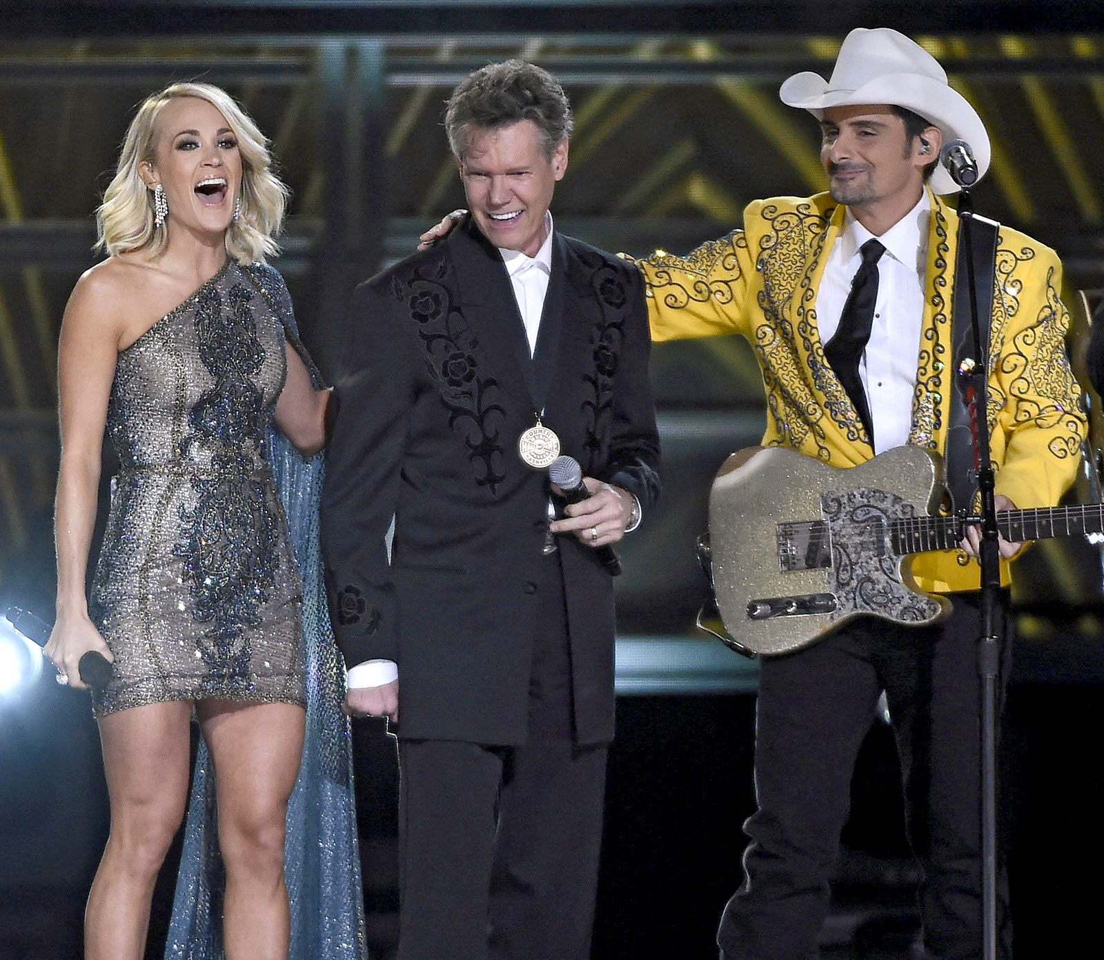 Randy Travis and Carrie Underwood and Brad Paisley