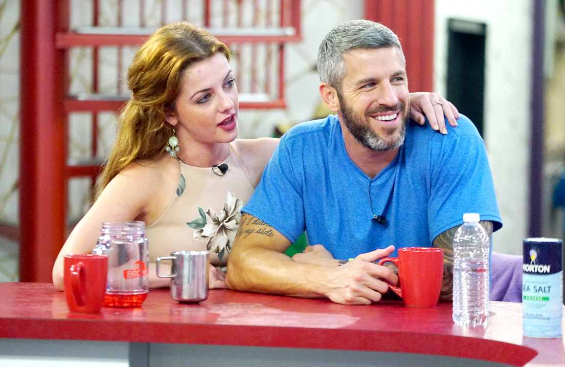 Raven Walton and Matthew Clines in the Big Brother house.