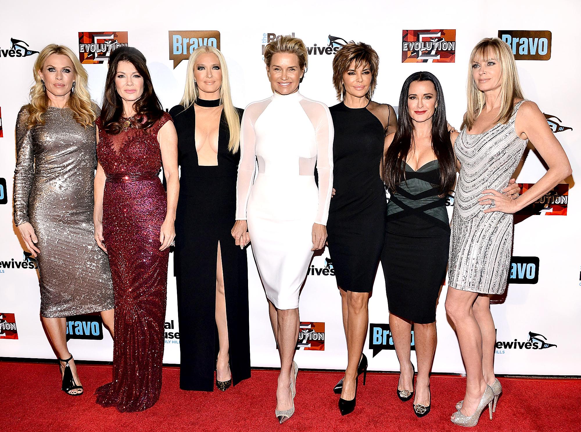 Kathryn Edwards, Lisa Vanderpump, Erika Girardi, Yolanda Foster, Lisa Rinna, Kyle Richards and Eileen Davidson attend the premiere party for Bravo's