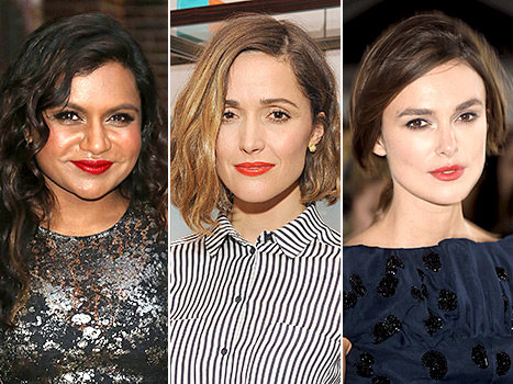Red Lip Trend - Mindy Kaling, Rose Byrne and Keira Knightley
