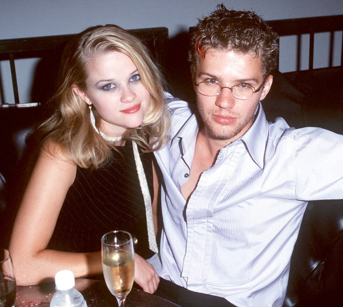 Reese Witherspoon and Ryan Phillippe at the Mann's Chinese Theater in Hollywood, California in 1998.