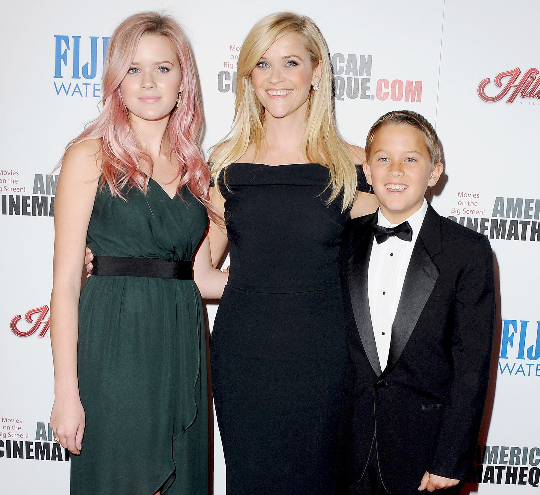 Reese Witherspoon, daughter Ava Phillippe (L) and son Deacon Phillippe (R) arrive at the 29th American Cinematheque Award Honoring Reese Witherspoon at the Hyatt Regency Century Plaza on October 30, 2015 in Los Angeles, California.